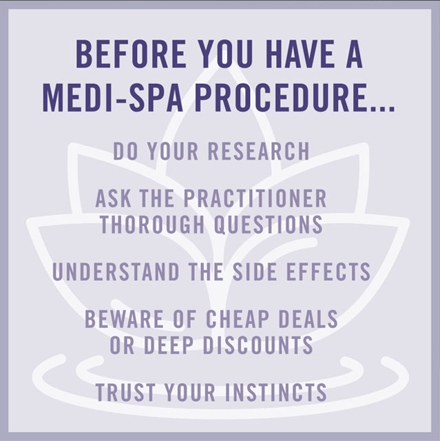 Before you have a medi-spa procedure...